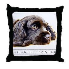 Black Cocker Spaniel Lover's Classic Throw Pillow