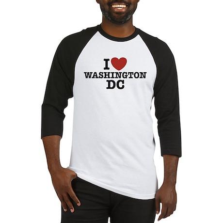 I Love Washington DC Baseball Jersey
