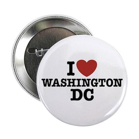 """I Love Washington DC 2.25"""" Button"""