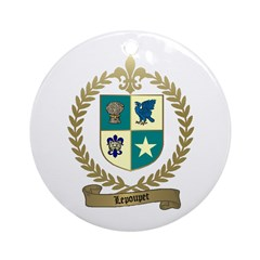 LEPOUPET Family Crest Ornament (Round)