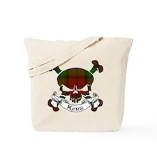 Kerr Tartan Skull Tote Bag