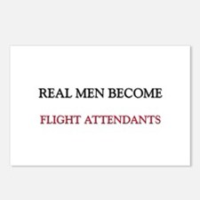 Real Men Become Flight Attendants Postcards (Packa