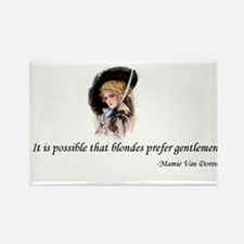 Blondes Prefer Gentlemen Rectangle Magnet