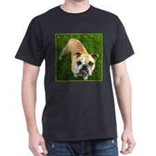Bulldog Lover's Striking Black T-Shirt, NEW!!