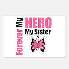 BreastCancerHero Sister Postcards (Package of 8)