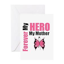 BreastCancerHero Mother Greeting Card