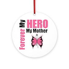 BreastCancerHero Mother Ornament (Round)