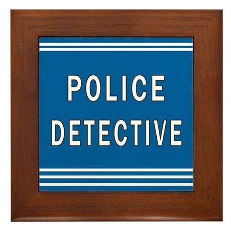 Police Detective Blues Framed Tile