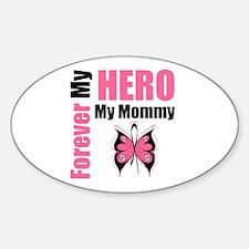 BreastCancerHero Mommy Oval Decal