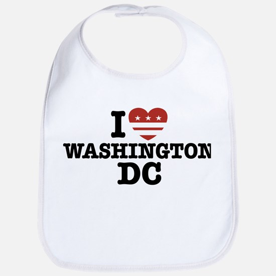 I Love Washington DC Bib