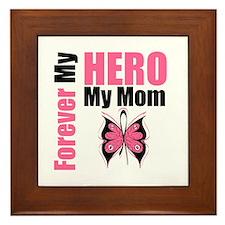BreastCancerHero Mom Framed Tile