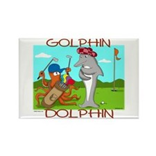 Golphin Dolphin Rectangle Magnet