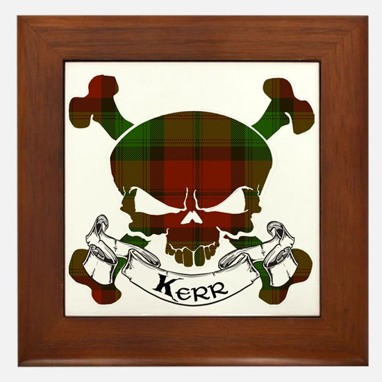 Kidd Tartan Skull Framed Tile