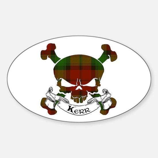 Kidd Tartan Skull Sticker (Oval)