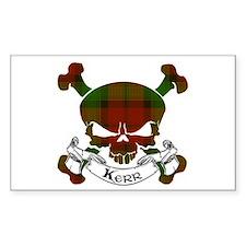 Kidd Tartan Skull Decal