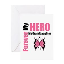 BreastCancerHeroGranddaughter Greeting Card