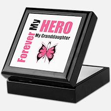 BreastCancerHeroGranddaughter Keepsake Box