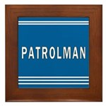 Patrolman Blues Framed Tile