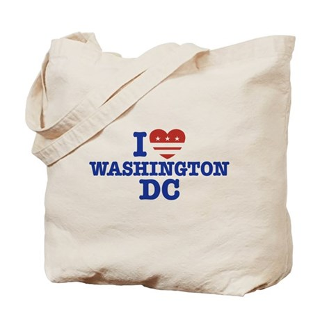 I Love Washington DC Tote Bag