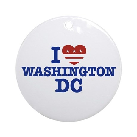 I Love Washington DC Ornament (Round)