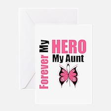 BreastCancerHero Aunt Greeting Card