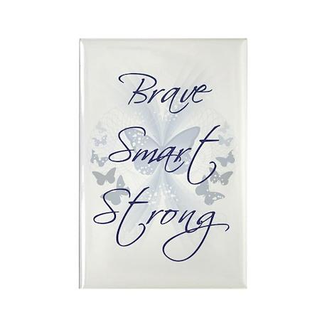 Brave Smart Strong Rectangle Magnet (10 pack)