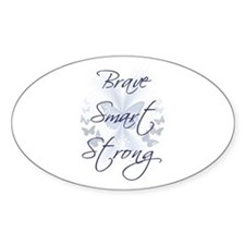 Brave Smart Strong Oval Decal