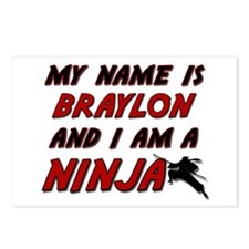 my name is braylon and i am a ninja Postcards (Pac