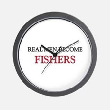 Real Men Become Fishers Wall Clock