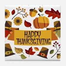 happy thanksgiving day! Tile Coaster