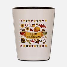 happy thanksgiving day! Shot Glass