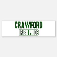 Crawford irish pride Bumper Bumper Bumper Sticker