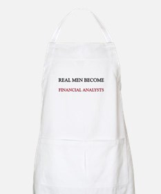 Real Men Become Financial Analysts BBQ Apron