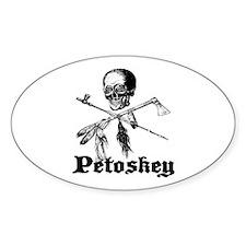 Petoskey Pirate by C.Psenka 2 Oval Decal