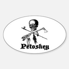Petoskey Pirate by C.Psenka 2 Oval Decal