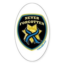 Thin Blue Line NeverForgotten Oval Decal