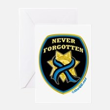 Thin Blue Line NeverForgotten Greeting Card