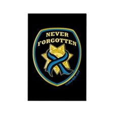 Thin Blue Line NeverForgotten Rectangle Magnet