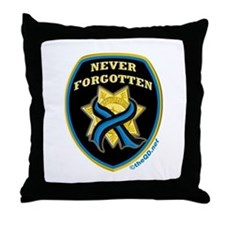 Thin Blue Line NeverForgotten Throw Pillow