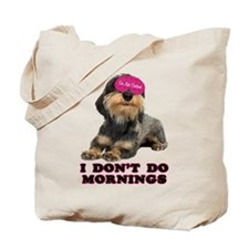 Wirehaired Dachshund Mornings Tote Bag