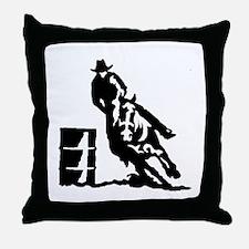 Barrel Racing Throw Pillow