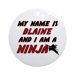 my name is blaine and i am a ninja Ornament (Round