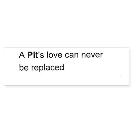 A Pit's Love Bumper Sticker
