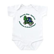 Earth Day Turtle Infant Bodysuit
