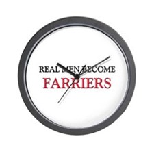 Real Men Become Farriers Wall Clock