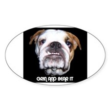 GRIN AND BEAR IT Oval Decal