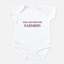 Real Men Become Farmers Infant Bodysuit