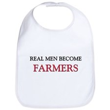 Real Men Become Farmers Bib