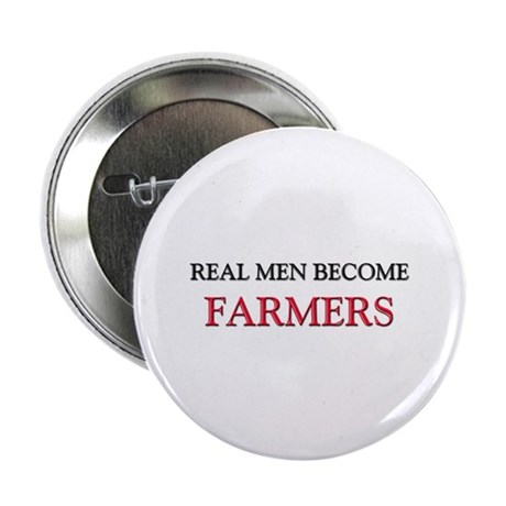 """Real Men Become Farmers 2.25"""" Button (10 pack)"""