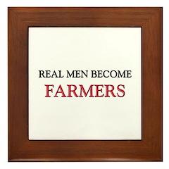 Real Men Become Farmers Framed Tile